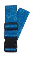 Fabrizio kuviollinen matkalaukkuremmi, 00124, sini/vihreä kukka