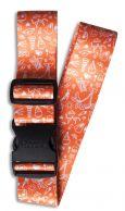 Fabrizio kuviollinen matkalaukkuremmi, 00124, Loma oranssi
