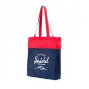 Herschel kokoontaitettava kassi, sinipunainen