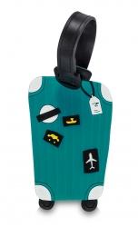 Fabrizio silikoninen nimilappu, 2 kpl, matkalaukku petrooli