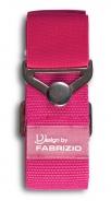 Fabrizio elastinen matkalaukkuremmi metallisoljella, pinkki