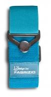 Fabrizio elastinen matkalaukkuremmi metallisoljella, turkoosi