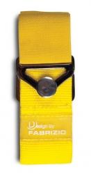 Fabrizio elastinen matkalaukkuremmi, keltainen