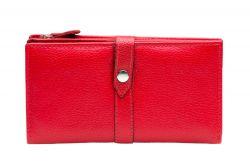 A. Eriksson RFID-nahkalompakko 112-784, punainen