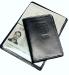Honko 1172 RFID-suojattu nahkainen passikotelo, musta