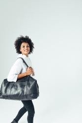 RE:Designead Lismore, nahkainen matkakassi, musta