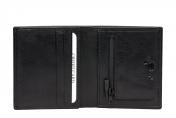 A. Eriksson miesten nahkainen RFID lompakko, 200-406, musta