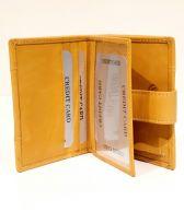 Nabo nahkainen RFID-lompakko, keltainen