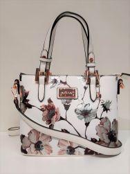 Migant käsilaukku, MG-1392, valkoinen kukkakuosi