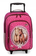 Fabrizio Hevoset, lasten matkalaukku, pinkki