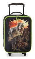Fabrizio Tyrannosaurus, lasten matkalaukku, musta/lime