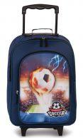 Fabrizio Soccer, lasten matkalaukku, sininen
