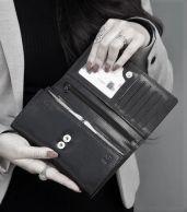 The Monte nahkainen RFID lompakko, 2162813, musta
