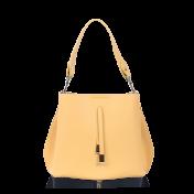 Keltainen käsilaukku