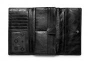 ADAX Salerno, nahkainen lompakko, 432769, musta