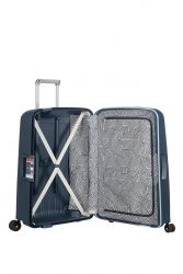 Samsonite S'Cure suuri 102l matkalaukku, Navy Blue Stripes