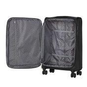 Suuri kankainen musta matkalaukku