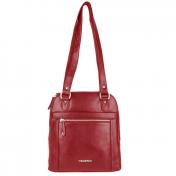 The Monte nahkainen käsilaukkureppu, 52406, punainen