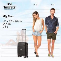 TravelZ BigBars lentolaukku, musta