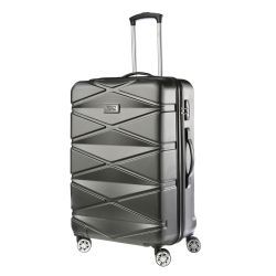 TravelZ Diamond suuri matkalaukku, musta