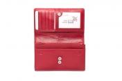 A.Eriksson naisten RFID-nahkainen lompakko, 716-690, punainen