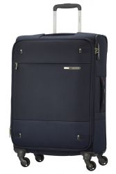Samsonite Base Boost, keskisuuri matkalaukku, Navy Blue Stripes