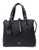 Mia Wang Klassik käsilaukku, 80463, musta