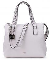 Mia Wang Klassik käsilaukku, 80463, valkoinen