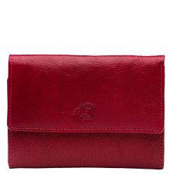 A. Eriksson nahkainen RFID-lompakko, 810-668, fuksianpunainen