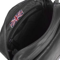 The Chesterfield Brand Morgan, nahkainen olkalaukku, musta