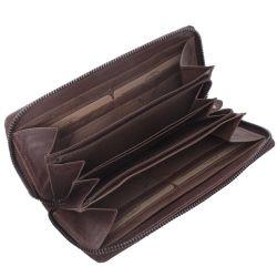 The Chesterfield Brand Nova, nahkainen lompakko, tummanruskea