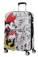 American Tourister Wavebreaker Disney, suuri matkalaukku 77/28, Minnie Comics white