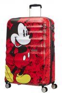 American Tourister Wavebreaker Disney, suuri matkalaukku, Mickey comics red