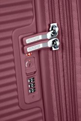 American Tourister Soundbox, keskisuuri matkalaukku, Dark Burgundy