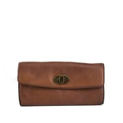 RE:Designed Ameda, nahkainen lompakko, konjakki