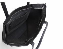 ADAX Harvey Shopper Pia nahkainen olkalaukku, 603759, musta