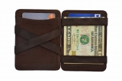 Hunterson Magic Coin Wallet RFID, ruskea