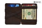 Hunterson Magic wallet RFID, ruskea