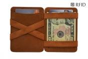 Hunterson Magic wallet RFID, cognac