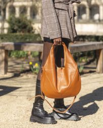 Zede Paris Boisseiére nahkainen olkalaukku 80392, cognac