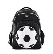 Footy koulureppu, jalkapallo, musta