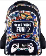 Footy koulureppu, Never ending fun, tummansininen