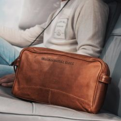 The Chesterfield Brand Stefan, nahkainen kosmetiikkalaukku, cognac