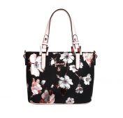 Migant käsilaukku, MG-1392, musta/kukkakuvio