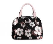 Migant käsilaukku MG-1434, musta kukkakuosi