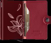 Secrid Miniwallet, Stitch Magnolia Rosso