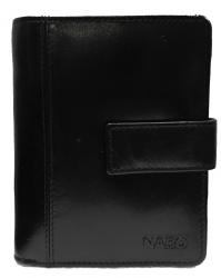 Nabo NK-185 nahkainen RFID-lompakko, musta