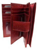 Nabo NK-187 nahkainen RFID-lompakko, punainen