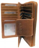 Nabo nahkainen RFID-lompakko, NK-214, ruskea