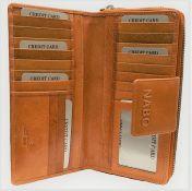 Nabo nahkainen RFID-lompakko, NK-215, ruskea